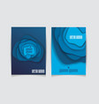 brochure template design with blue abstract vector image vector image