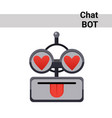 cartoon robot face smiling cute emotion lovely vector image