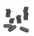 charcoal pills and capsules vector image vector image