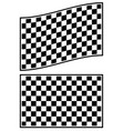 checkered racing flag elements isolated on white vector image vector image