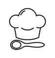chef hat line icon concept sign outline vector image