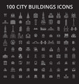 city buildings editable line icons set on vector image vector image