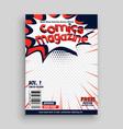 comic magazine cover page template design