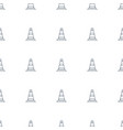 cone barrier icon pattern seamless white vector image vector image