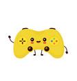 cute smiling happy game joystick vector image vector image