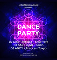 dance party poster background template vector image