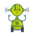 electronic robot with wheels vector image