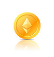 ethereum coin symbol icon sign emblem vector image vector image