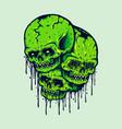 family zombie skull vector image