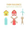 Farm buildings Farmer house and vector image vector image