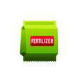 fertilizer flat icon with long shadow present by vector image