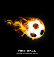fire ball styles design vector image vector image