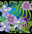 floral colorful 3d seamless pattern ornamental vector image vector image