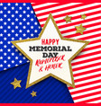 happy memorial day - greeting card vector image