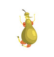 happy pear cartoon character funny humanized vector image vector image