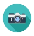 Icon vintage camera vector image