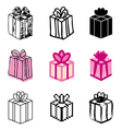 icons gift vector image
