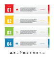 infographic idea set design vector image vector image