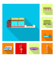 isolated object of train and station icon vector image vector image