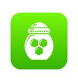 jar honey icon green vector image vector image