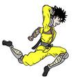jump ninja vector image