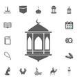 lantern icon ramadan kareem eid mubarak vector image vector image