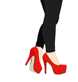 Legs and shoes with heels number 015 vector image vector image