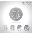 Military outline icon vector image
