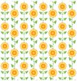pattern sunflowers vector image vector image