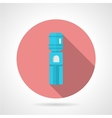 Pink round icon for water cooler vector image vector image