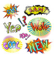 pop art modern patches and speech bubbles vector image vector image