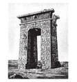 propylon acropolis vintage engraving vector image vector image