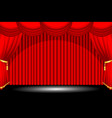 red stage background vector image