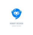 robot logo communication messenger icon computer vector image