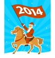 Santa Claus on a horse vector image vector image