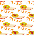 seamless pizza pattern with different ingredients vector image vector image
