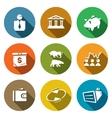 Set of Exchange Icons Broker Bank Piggy vector image
