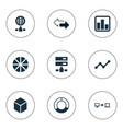 set simple business icons vector image