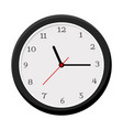 simple wall clock isolated on white vector image vector image