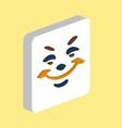 smile computer symbol vector image