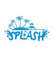 splashsplash beach logo vector image
