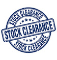stock clearance blue grunge round vintage rubber vector image