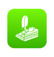 sweets food icon green vector image