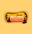 thailand banner time to travel paper cut and vector image vector image