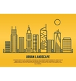 urban landscape in line style vector image vector image