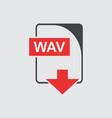 wav icon flat vector image vector image