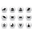 Web buttons swedish icons vector image vector image