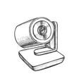 web camera modern digital gadget monochrome vector image vector image