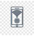 wireless internet concept linear icon isolated on vector image