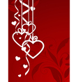 valentines shape vector image